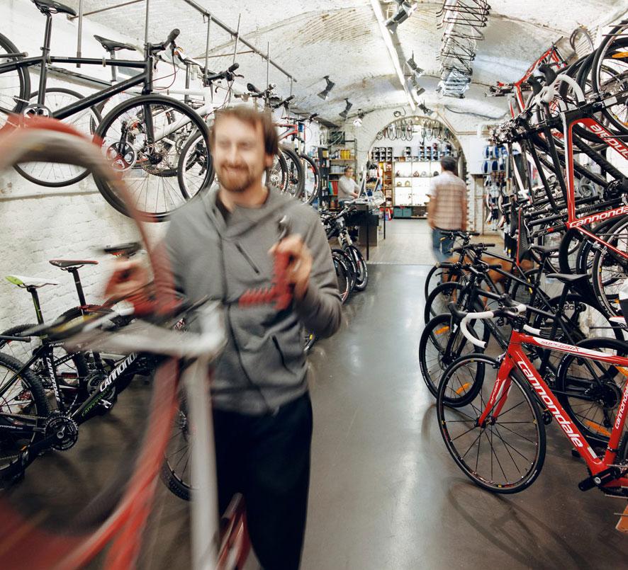 Ciclopia Shop Innenansicht in 1060 Wien