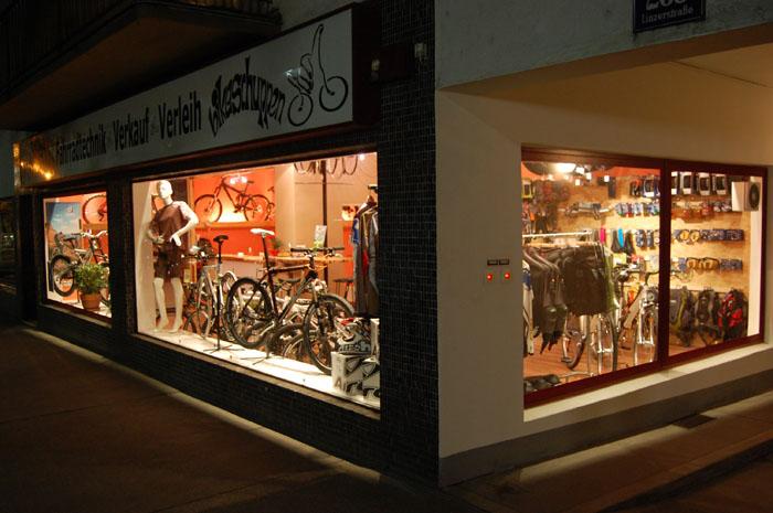 Außenansicht Shop Bikeschuppen in 1140 Wien
